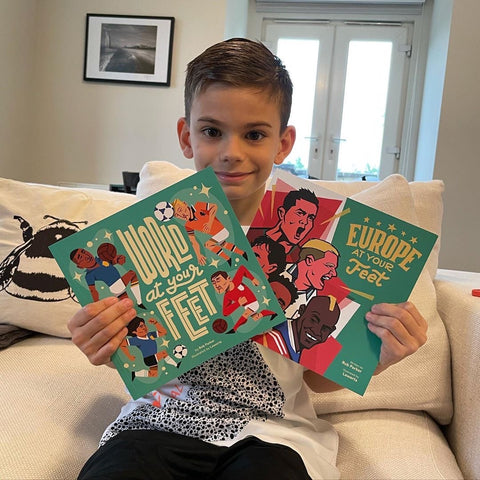 Football books for kids: World At Your Feet and Europe At Your Feet