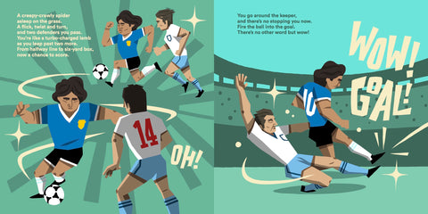 Children's Football Book - Diego Maradona in World At Your Feet
