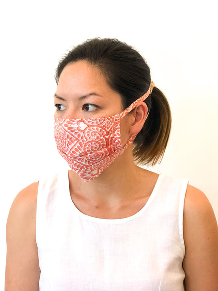 Blockprint Face Mask - Tie