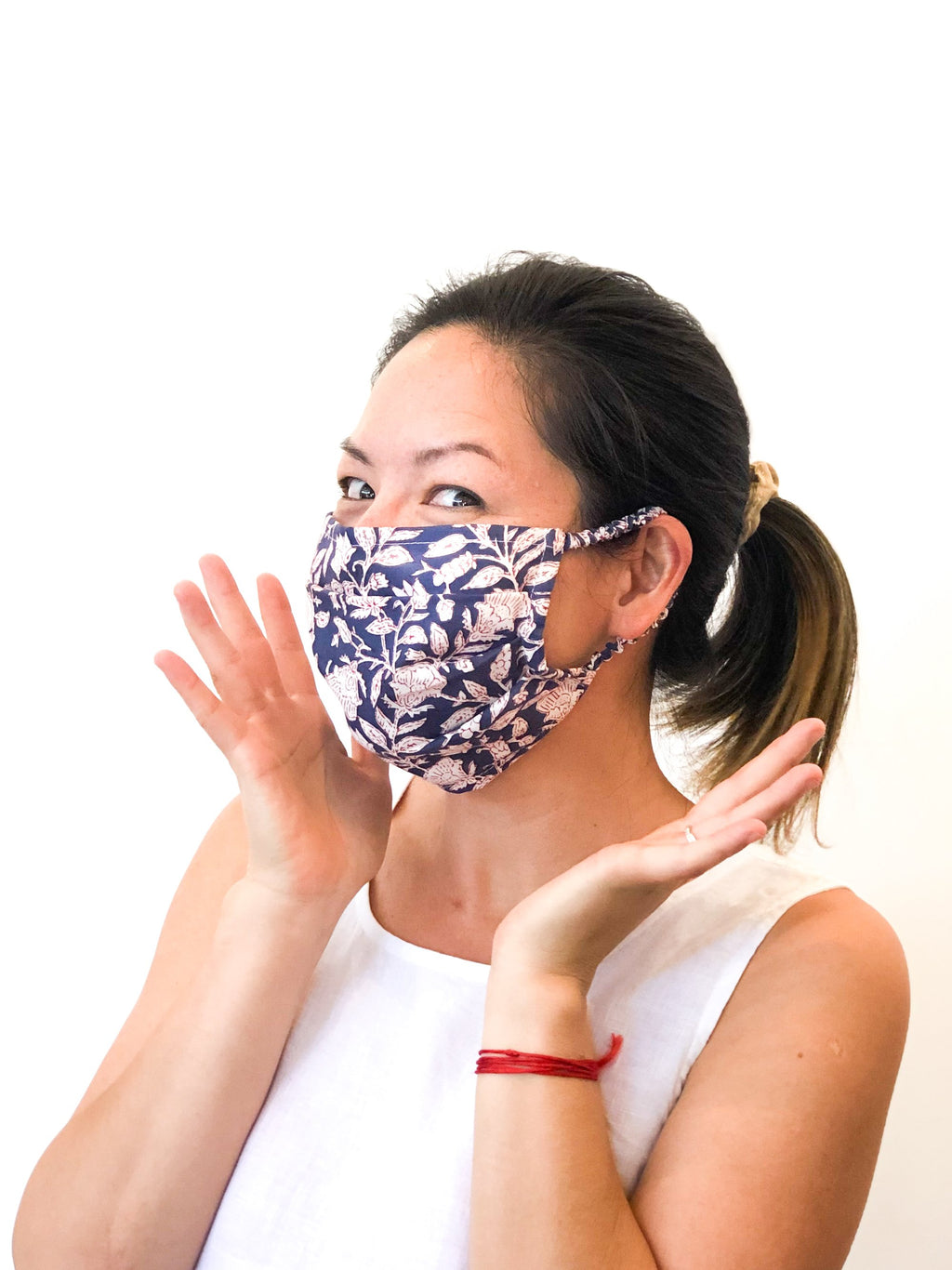 Blockprint Face Mask - Elastic