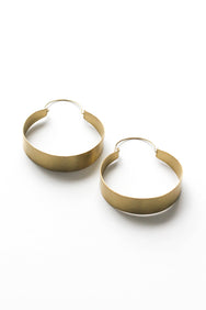 Brassy Statement Hoops