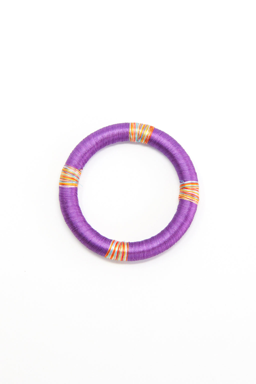 Threaded Bangle in Amethyst