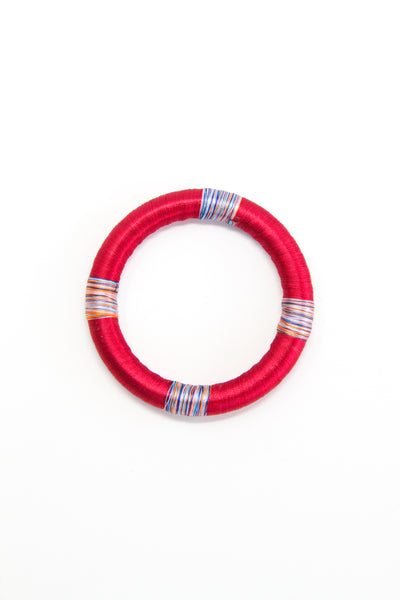 Threaded Bangle in Cherry