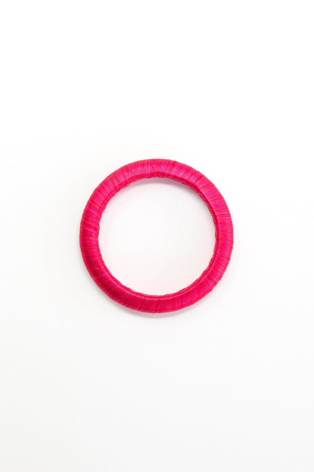 Threaded Bangle in Beetroot
