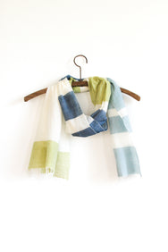 Colorblock Scarf - Canary Denim