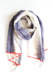 Vista Border Scarf - Moonlight Nectarine