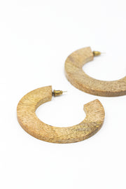 Mango Wood Statement Hoops