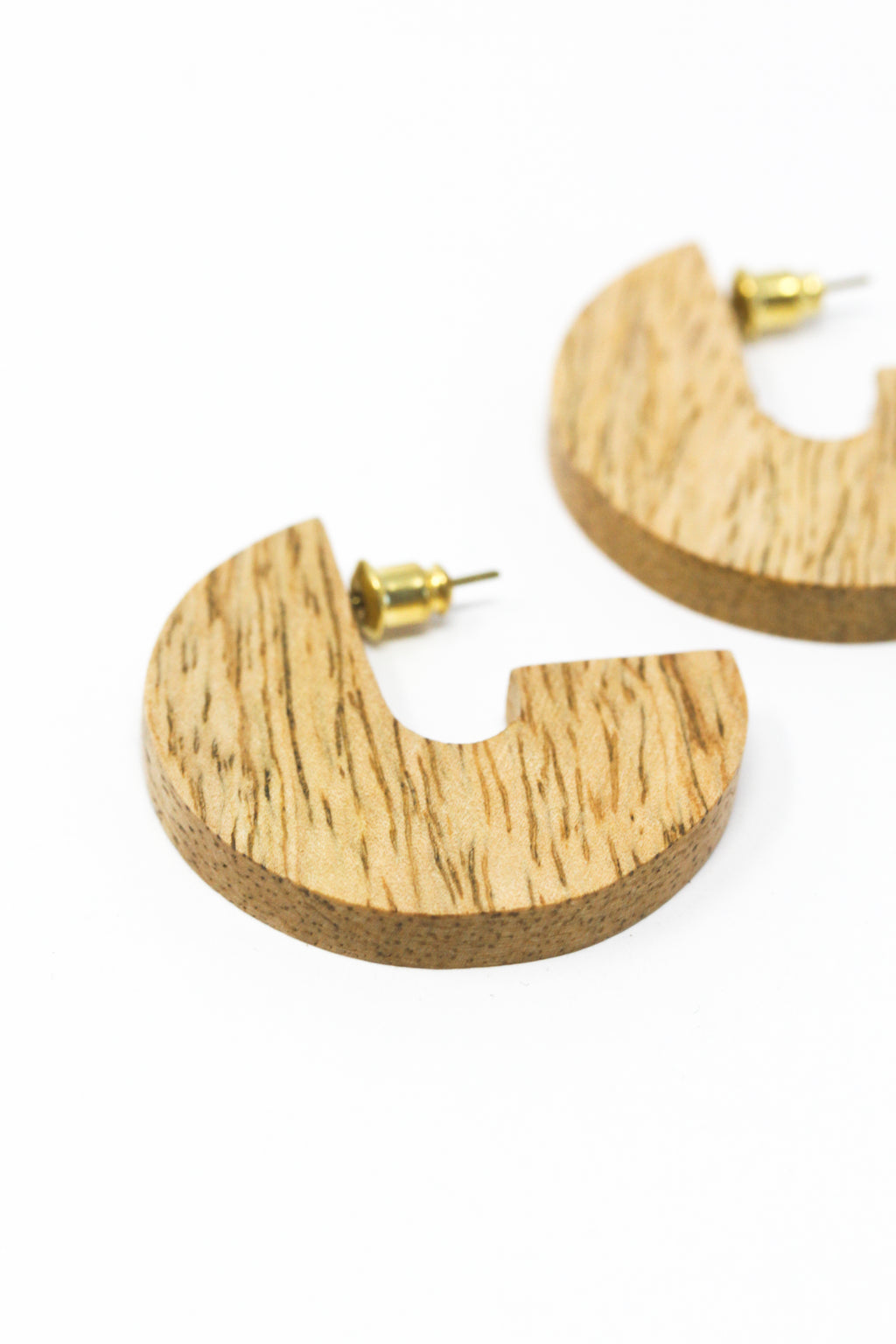 Wood Disc Earrings Small (Mango or Teak)