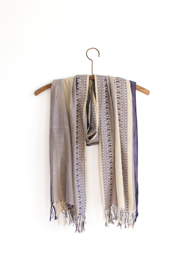 Bengal Border Scarf - Mojave Moonlight
