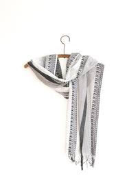 Bengal Border Scarf - Phantom Snow