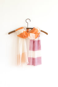 Colorblock Scarf - Citrus Lilac