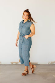 Handloom Jumpsuit in Bluejay
