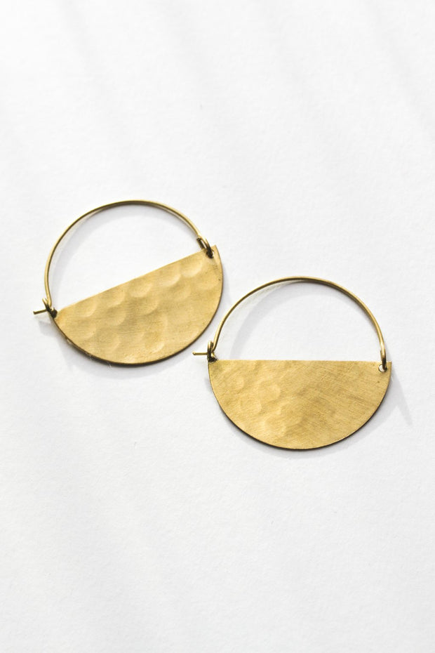 Half Moon Earrings Earrings Rover & Kin Small