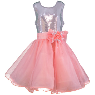Vestido para fiesta para juniors color salmon
