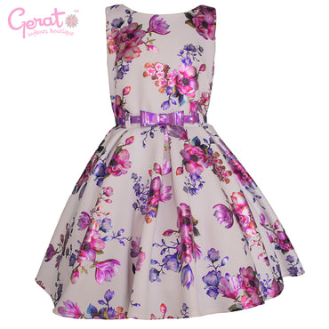 Vestido de Fiesta Junior color Blanco con Lila