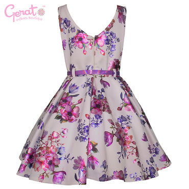 Vestido de Fiesta Gerat Junior color Blanco con Lila