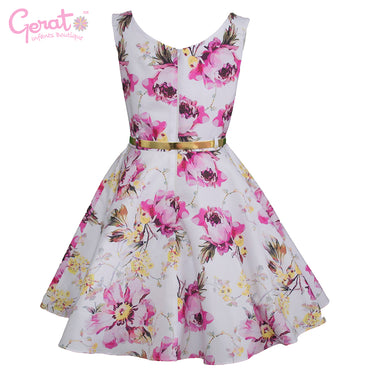 Vestido de Fiesta Junior color Blanco con Rosa