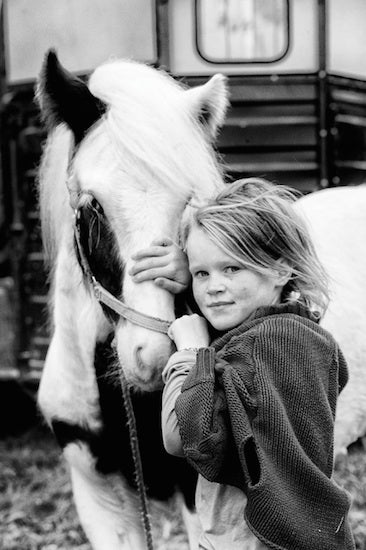 Irish Travellers, Girl with Horse