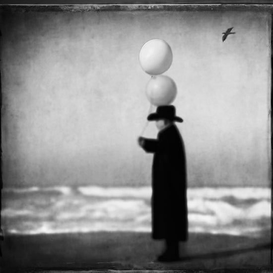 Man in Black with Balloons No. 2