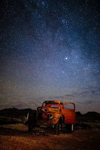 Red Truck by Starlight