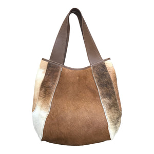 Jessica Large Beige Calf Hair Bag