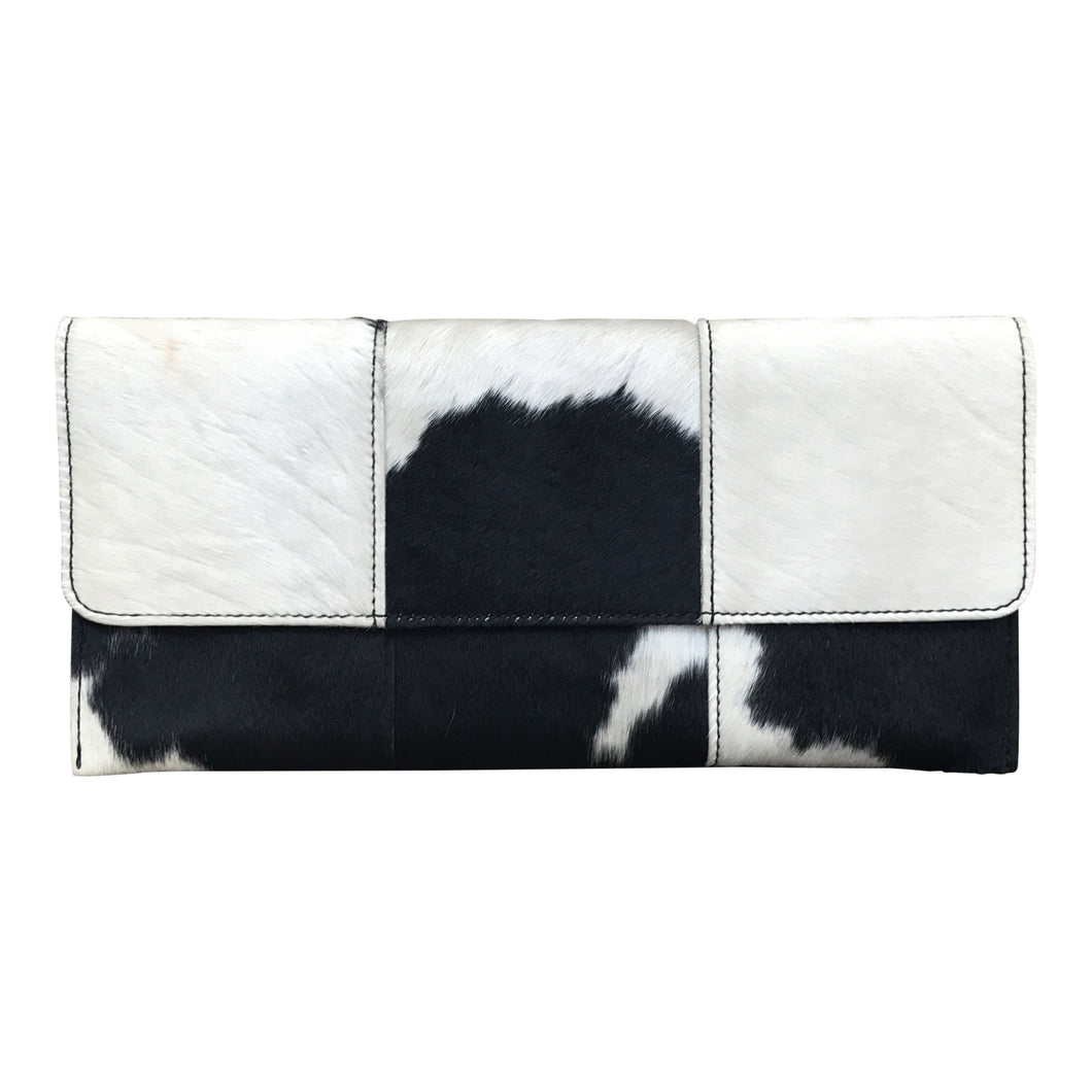 Black & White Calf Hair Clutch