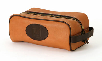 Natural Saddle Leather Dopp Kit