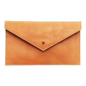 Envelope Natural Saddle Leather