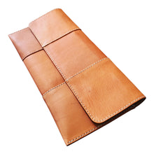 Lisbon Clutch Natural Saddle Leather