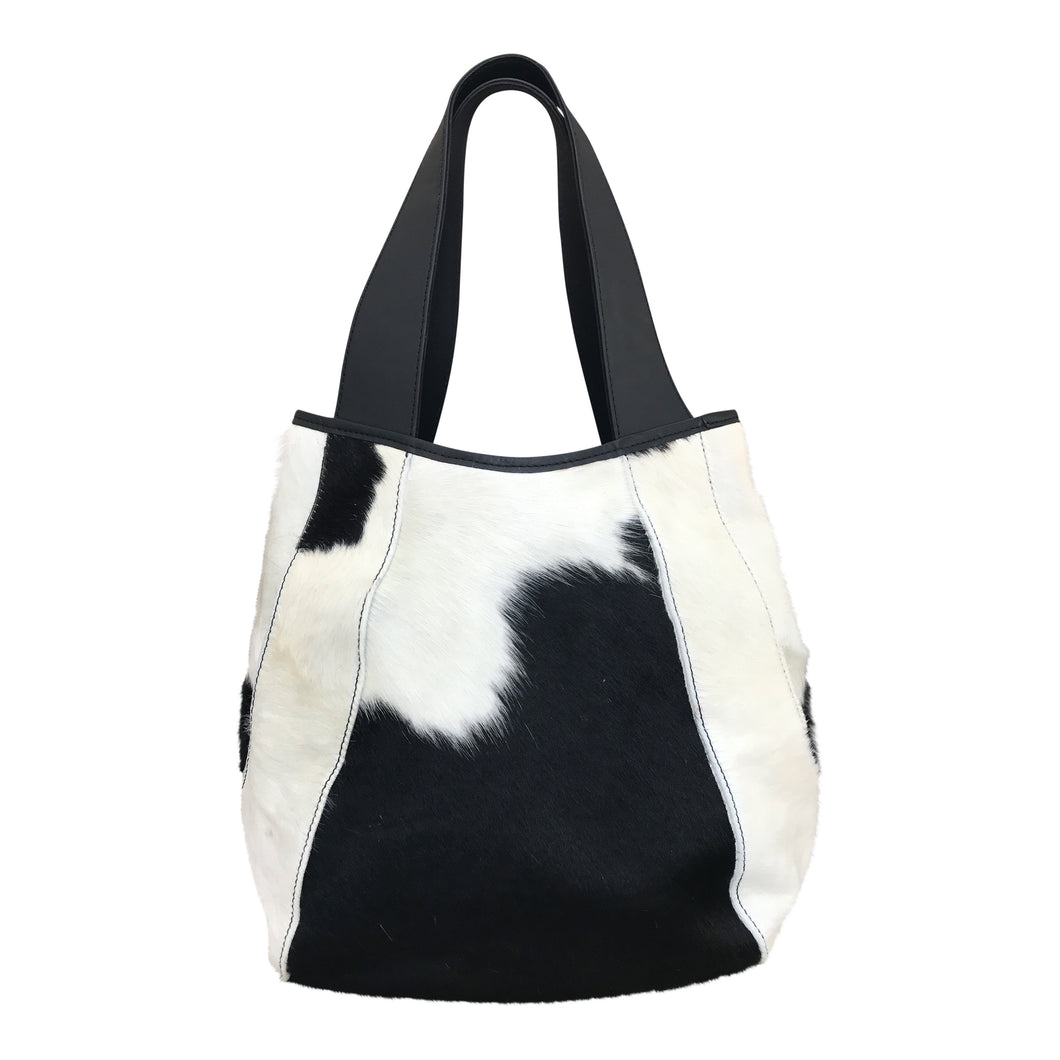 Jessica Large Black & White Calf Hair