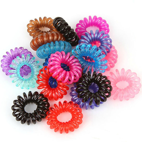 New Arrival 5pcs Plastic Hair Braider Head Colorful Rope Spiral Shape Hair Ties Hair Styling Tools Telephone Wire Accessories