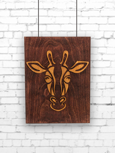 Giraffe Wood Panel