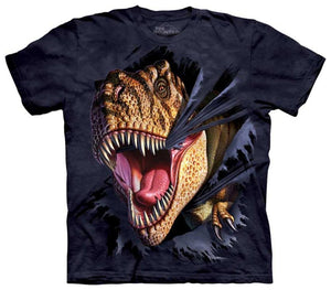 The Mountain Tearing T-Rex Dinosaur Shirt For Kids, Boys, Girls