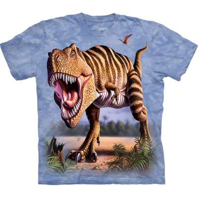 The Mountain Striped T-Rex Dinosaur Shirt For Kids, Boys, Girls