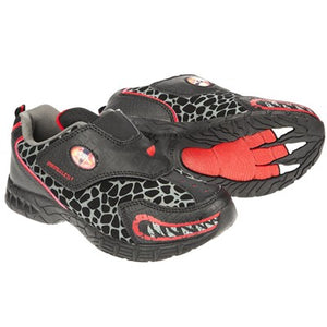 Dinosoles Black DinoFit Low Top T-Rex Growler Shoes (CLEARANCE)