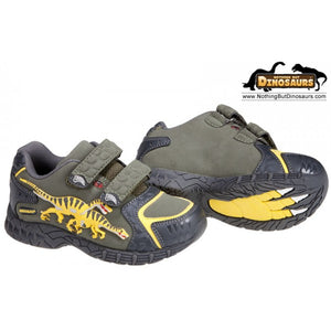 Dinosoles Gray DinoFit Low Top Velociraptor Shoes (CLEARANCE)