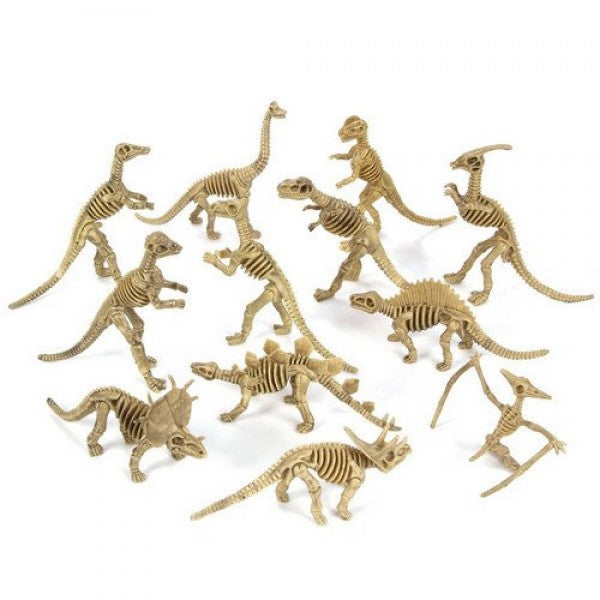 Large 6 Inch Dinosaur Skeleton Toy Figure Party Favors (Box Of 12)