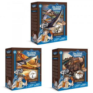 GeoWorld Dr. Steve Hunters Deluxe Paleo Expedition Dig Kit Bundle (Pack of 3)