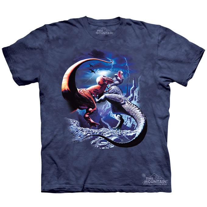 The Mountain Fighting T-Rex Dinosaur Shirt For Kids, Boys, Girls