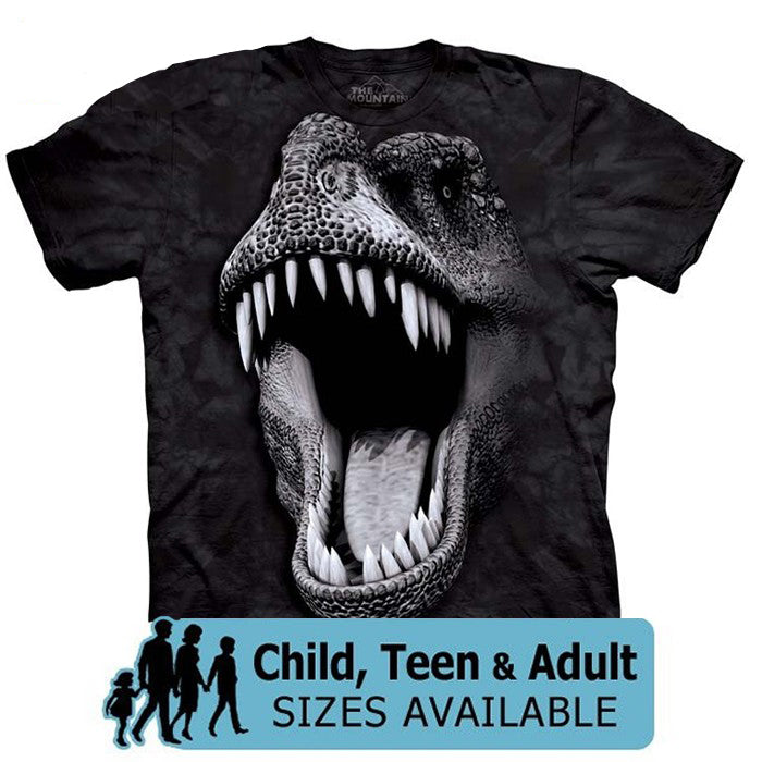 The Mountain Glow-In-The-Dark T-Rex Dinosaur Shirt For Kids, Boys, Girls, Adults, Men, Women