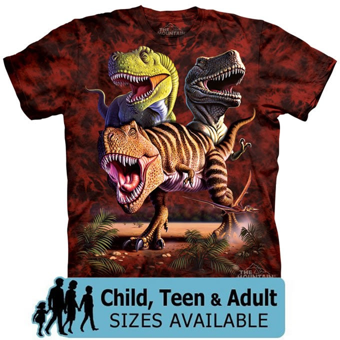 The Mountain T-Rex Dinosaur Collage Shirt For Kids, Boys, Girls, Adults, Men, Women