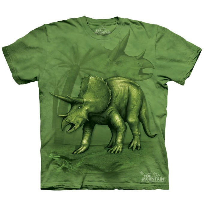 The Mountain Triceratops Dinosaur Shirt For Kids, Boys, Girls
