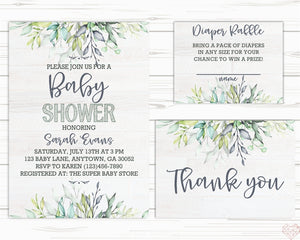 image about Baby Shower Printable Invitations named Do it By yourself Kid Shower Invite Fixed - Editable Invitation - Printable Invites - Greenery Invite - Kid Shower Invite - Do-it-yourself Boy or girl Shower