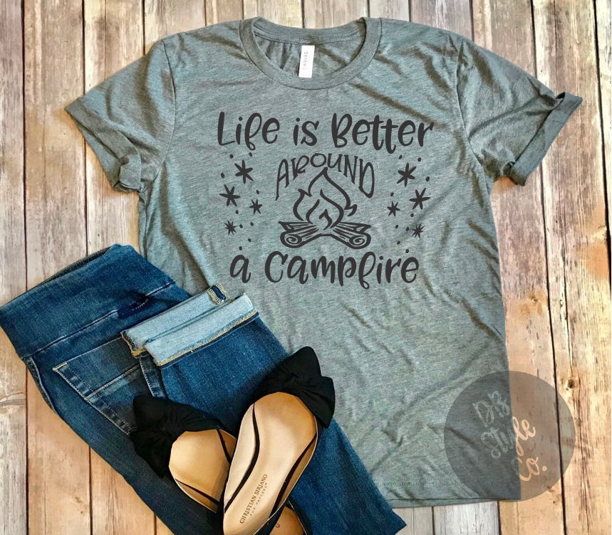 86a9f2779c Life is Better Around a Campfire Unisex Graphic Camping Tee - DoodleBug  Style Co.