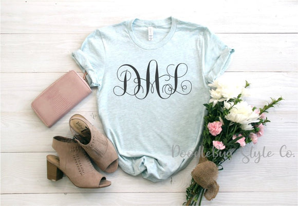 42db5a5560d Monogram Shirt | Monogrammed Shirt | Personalized Shirt | Monogram Gift |  Womens Monogram Tee | Custom Gifts for Her | Bridesmaid Gifts