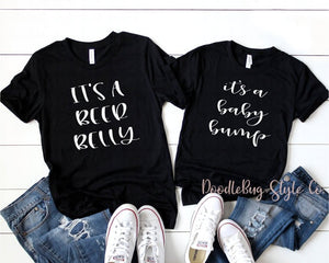 e00f95e40a573 Baby Bump Shirt | Beer Belly Shirt | Couples Pregnancy Announcement Shirts  | Matching Couples Shirts