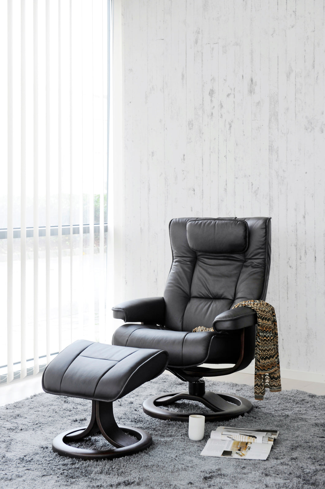 Fauteuil Mustang avec repose-pieds