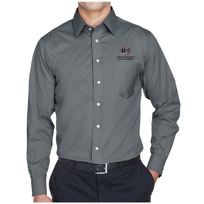 833 - Devon & Jones Men's Crown Woven Collection™ Solid Stretch Twill-Long Sleeve-Advanced Sportswear