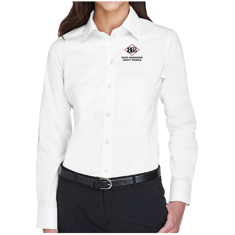 833 - Devon & Jones Ladies' Crown Woven Collection™ Solid Stretch Twill-Ladies-Advanced Sportswear