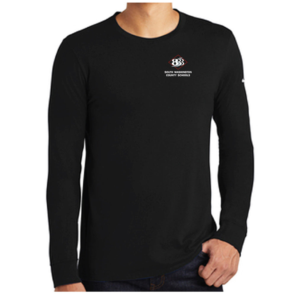 833 - Nike Core Cotton Long Sleeve Tee-Long Sleeve-Advanced Sportswear